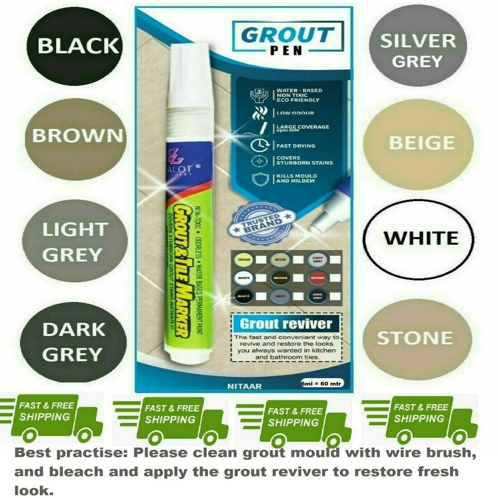 Grout Pen Revives Amp Restores Tile Grout Anti Mould White