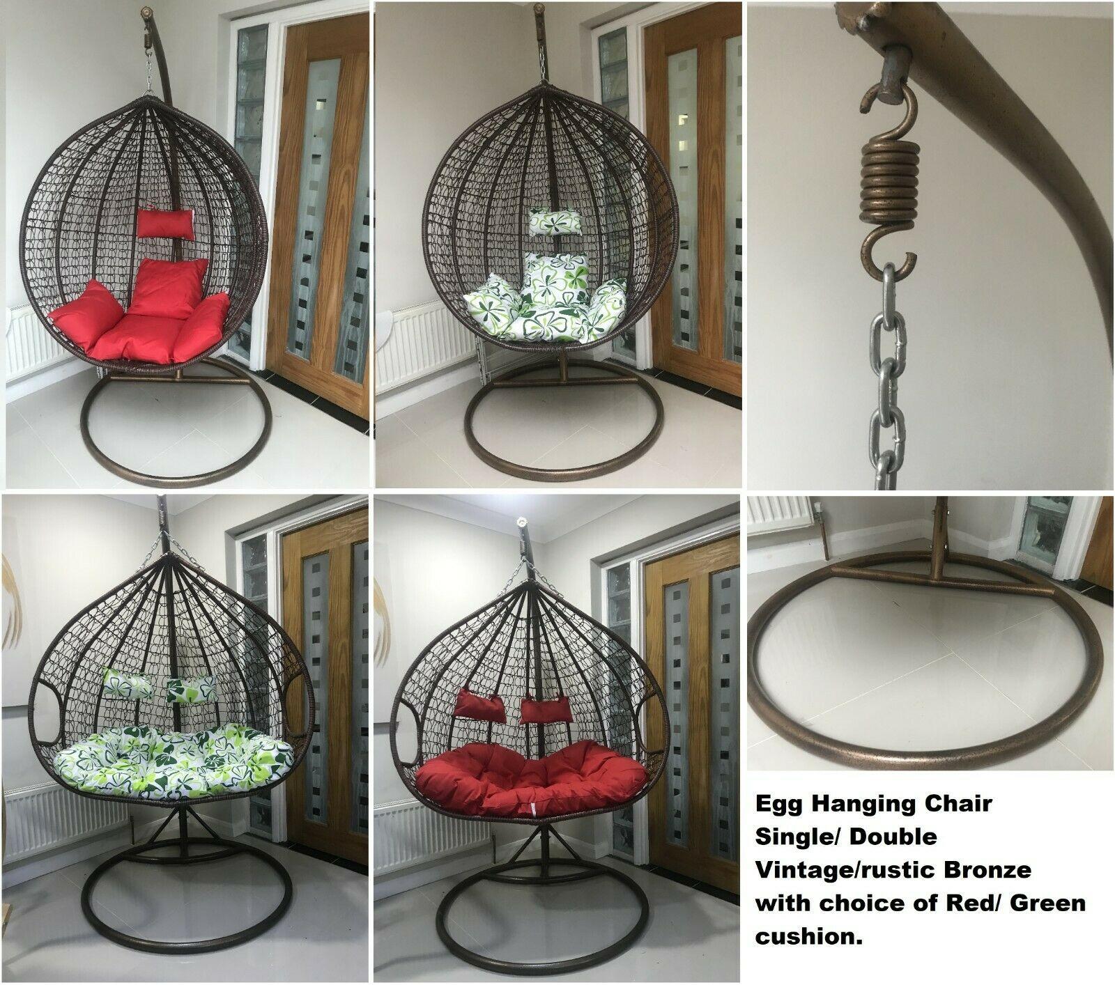 Rattan Swing Patio Garden Weave Hanging Egg Chair W Cushion Indoor Or Outdoor Nitaar
